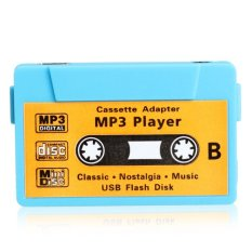 Mini MP3 Player TF USB Flash Disk Cassette Speaker Blue R1BO (Intl)