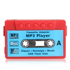 Mini MP3 Player TF USB Flash Disk Cassette Speaker R1BO (Red)