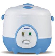 Miyako MCM-606A Magic Com 0,6 L Magic Warmer Plus - Putih-Biru
