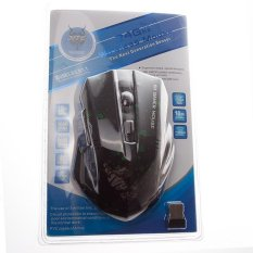 MJT JT3231 Wireless Mouse 5 Keys Design 2.4GHz 1600DPI Optical Mouse (Black and Green)