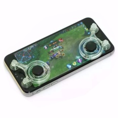 Mobile Joystick Game pad Touch Screen Joystick Perfect Mobile Game Controller For iPhone Android iPadmini Tablet - Clear