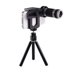 Mobile Phone Telescope Universal 8x Optical Zoom / Teropong Lensa Zoom HP - Hitam