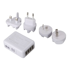 Mobiles Tablets Wired Chargers 2.1A 4 Usb Port Universal Portable Travel Ac Plug Home Wall