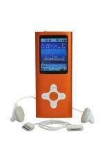 "Moonar 1.8"" LCD 16GB Mp3 Mp4 Player With FM Radio Video Games & Movie (Orange)"