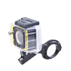 Moonar kamera olahraga sepeda stang dipasang pipa aluminium tabung klem penjepit untuk Gopro 2/3/3 + / 4 Hitam