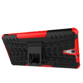 1 Hybrid Armor Design Shockproof Tough Jual Mooncase Case For Sony Xperia C5 .