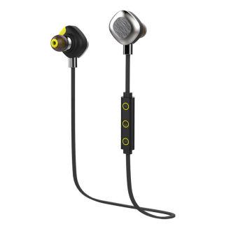 Morul U5 Plus IPX7 Waterproof Sport Earphone Magnetic Stereo Auriculares Wireless Earbuds Running Bluetooth Headset Microphone (Black)