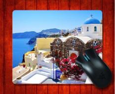MousePad Santorini Greece Beach For Mouse Mat 240*200*3mm Gaming Mice Pad - Intl