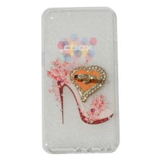 MR Soft Case Girly Motif For Oppo A39 Softshell Animasi High Heels Modis & Love Phone Holder Ring Mutiara / Jelly Silicone Casing Oppo A39 - Clear