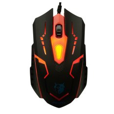 MS-X15 Professional Wired USB Gaming Mouse With Breathing Light (Red)