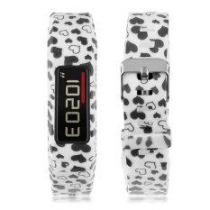 Multi Patterns For Garmin Vivofit 2 Bracelet Silicone Replacement Wristband Bangle Black White Heart
