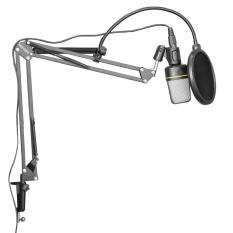 Neewer NB-35 Studio Penyiaran Stan Mikrofon Booming Menggunting Lengan Suspensi Gunung Syok