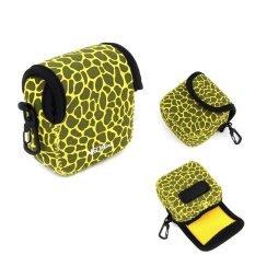 NEOPine Deer Pattern Neoprene Camera Case Bag For Gopro HERO3HERO3 + HERO4 Sport Action Camera (Yellow)