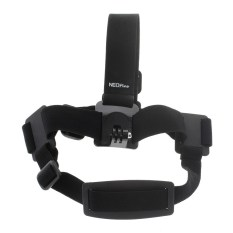 NEOPINE GHS-2 Adjustable Mount Head Strap for GoPro Hero Action Cameras - Black