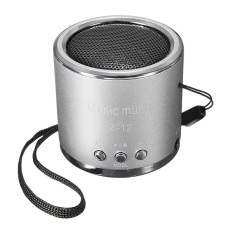New Portable Mini Speaker Amplifier FM Radio USB Micro SD TF Card MP3 Player (Silver)