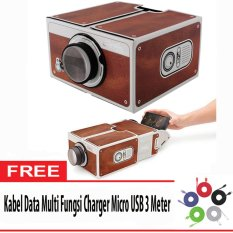 Next Projector Portable Smartphone Projektor Cardboard 2.0 for Mobile Phone Movie Presentasi