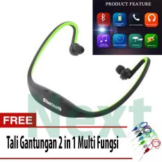 Next Sport S9 Headset Bluetooth 4.0 Behind-the-Neck USB Sports Stereo Wireless Bluetooth Headphone + Tali Gantungan 2 In 1