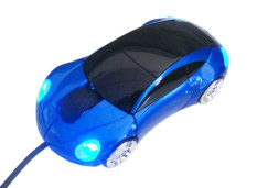 NiceEshop Dark Blue Sports Car Shaped USB Wired Optical Mouse For Notebook Laptop PC