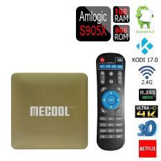 NiceEshop HM8 Android 6.0 OTT Mini TV Box KODI 17.0 Amlogic S905X Quad Core 1G B DDRIII 8GBEMMC Flash 64bit Streaming Media Player, Gold - Intl