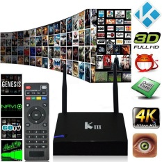 NiceEshop KIII Smart Android TV Box Android 5.1 S905 Quad-Core 2G / 16G UHD 4.3D KODI XBMC Mini PC 2.4/5G Dual WiFi DLNA Airplay Miracast HD Media Player (UK Plug) - INTL
