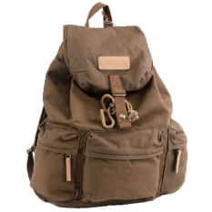 NiceEshop Waterproof Canvas Camera Lens Flash Bag Backpack For DSLRCamera (Coffee) - Intl