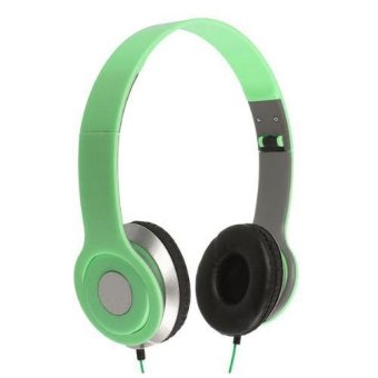 Nike NK - 300 For Handphone / Laptop / MP3 / MP4 / PC & Tablet 3.5mm Stereo Earphone Headset Green (Green)