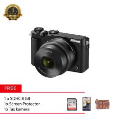 Nikon 1 J5 With 10-30mm (Black) + Memory 8GB + Screen Protector + Tas Kamera
