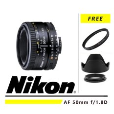 Nikon AF 50mm f/1.8D + Gratis UV Filter + Lenshood ATT 52mm