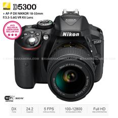 NIKON D5300 + AF-P DX NIKKOR 18-55mm f/3.5-5.6G VR Kit - 24.2MP - (BLACK)
