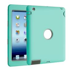 oanda Shockproof Heavy Duty Military Rubber Case Cover For IPad 2 3 4 (Green+Gray)