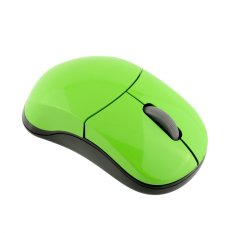 OEM 2.4G Rapoo 1100X Wireless Mouse Laser PC Rapoo Wireless Mouse (Green) (Intl)