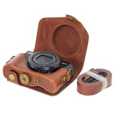 OEM kamera untuk Canon G7X II kelas tinggi PU kulit penutup yang dapat dilepas dasar lengkap