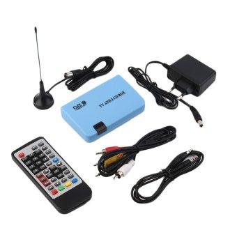 OH Digital DVB-T Stand-alone LCD TV Box Receiver Recorder Remote Control Radio Blue