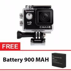 Onix COGNOS Action Camera 1080p CYGNUS - 12MP - HITAM + Gratis Battery 900 Mah