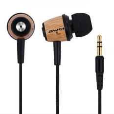 Original AWEI Q9 Super Bass Wooden In Ear Headphones Earphones Headset Fone De Ouvido 3.5mm Jack For Samsung S6 Edge Xiaomi HTC