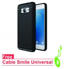 Original ipaky Back Case for Samsung Grand Prime / G530 - Black - Free Cable Data