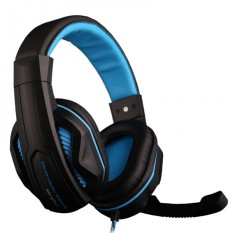Ovann X2 Professional Esport Gaming Stereo Bass Headset Over Ear 3.5mm Wired With Microphone - Biru