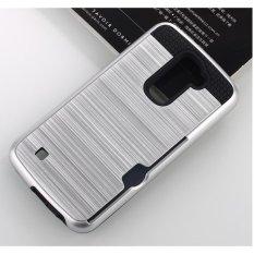 PC anti getar anti jatuh pemegang kartu case penutup telepon untuk LG K10 .