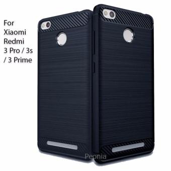 ... Peonia Carbon Shockproof Hybrid Premium Quality Grade A Case for Xiaomi Redmi 3 Pro Prime