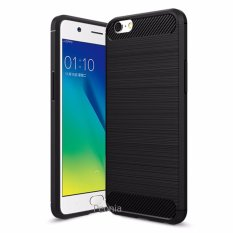Peonia Premium Carbon Shockproof Hybrid Case for Oppo A39 / A57- Hitam