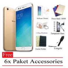 Pheyphey Oppo F3 Plus Ram 4GB 64GB Free 6x Paket Accessories Gold .