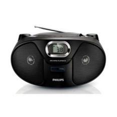 Philips AZ-385 Portable CD Soundmachine FM AM Radio USB Player AZ385 Only 220V