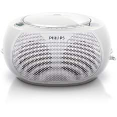 Philips AZ100W CD Player CD Soundmachine Radio MP3 (White) - Intl
