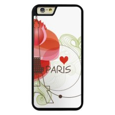 Phone case for iPhone 5/5s/SE deng Eiffel Tower with Red Flower cover for Apple iPhone SE - intl