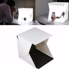 Photo Studio Mini Dengan Lampu LED - Mini Photo Studio Box Portable Dengan Lampu LED White Background Black Background PLUS Pouch And USB Cable