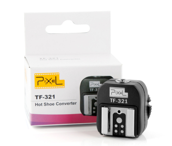 Pixel TF-321 E-TTL Flash Hot Shoe Adapter With Extra PC Sync Port For Canon DSLRs And Flashguns - Intl