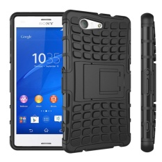 Popular Back Armour protection cover [TPU and PC] Dual Layer support stand phone case