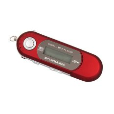 Portable 8GB Digital USB MP3 Player with FM Radio / MIC / 3.5mm Audio Jack Red