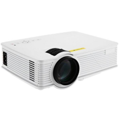 Portable Mini Projector GP-9 Home Theater 2000 Lumens Full HD 1920 X 1080 Pixels Multimedia LCD Video Teaching Projector For PC (White) - Intl