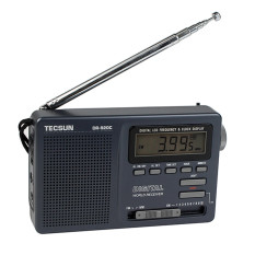 Portable TECSUN DR-920C FM MW SW 12 Band Radio With Digital Alarm Clock Sleep Timer - Intl